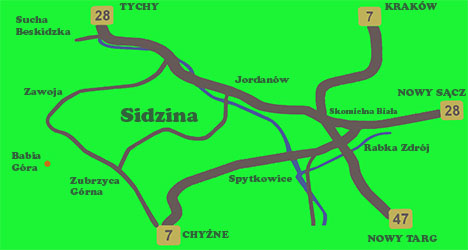 Położenie Sidziny