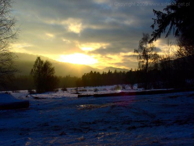 Zachód słońca - kliknij żeby powiększyć
