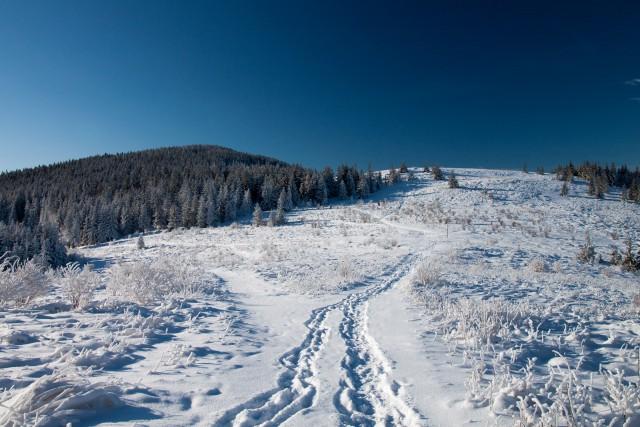 Zimowa przełęcz - kliknij żeby powiększyć