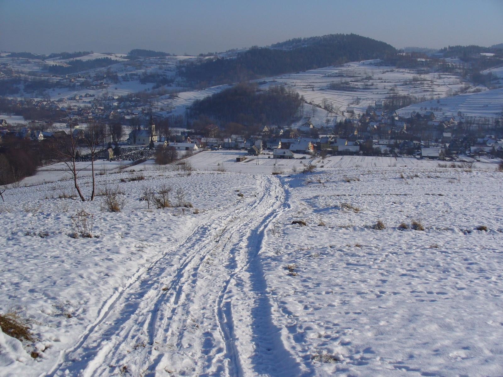 Cała wioska w bieli